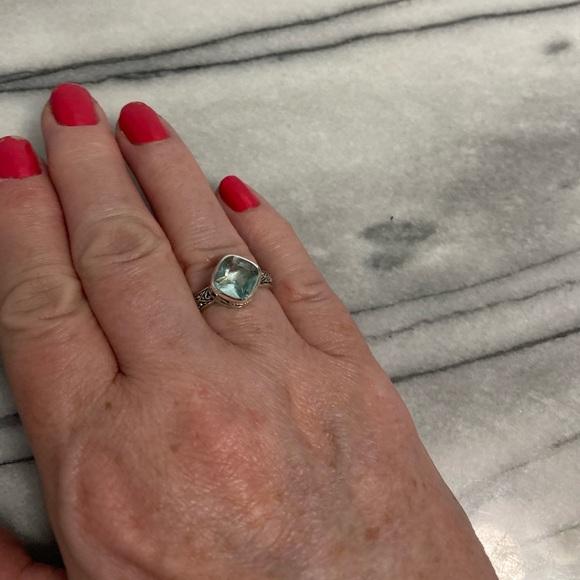 Silpada Sterling Silver Ring w/Blue Stone